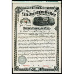 North-Eastern Railroad Co. of Georgia, 1881, Specimen Bond.