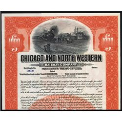 Chicago and North Western Railway Co. Specimen Bond.