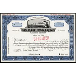 Chicago, Burlington & Quincy Railroad Co. Specimen Stock.