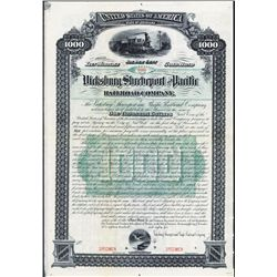 Vicksburg, Shreveport and Pacific Railroad Co. Specimen Bond.