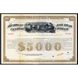 Michigan Central Rail Road Co. Specimen Bond.