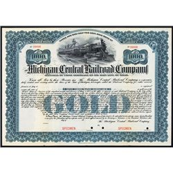 Michigan Central Railroad Co. Specimen Bond.