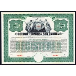Detroit Terminal and Tunnel, 1911 Specimen registered Bond.