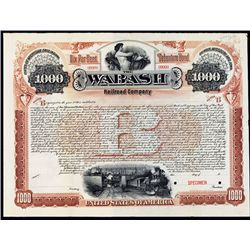 Wabash Railroad Co. Specimen Bond.