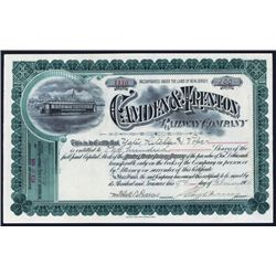 Camden & Trenton Railway Co. Issued Stock.