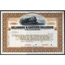 Delaware & Eastern Railroad Co. Specimen Stock.