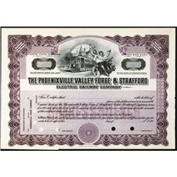Phoenixville, Valley Forge & Strafford Electric Railway Co., 19xx, Specimen Stock.