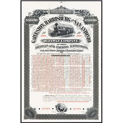 Galveston, Harrisburg and San Antonio Railway Co. Specimen Bond.