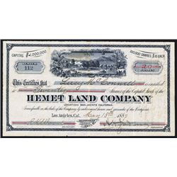 Hemet Land Co. Issued Stock.