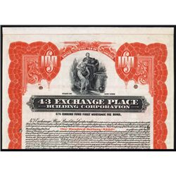 43 Exchange Place Building Corp. Specimen Bond.