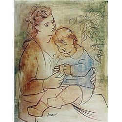 Limited Edition Picasso - Mother and Child - Collection Domaine Picasso