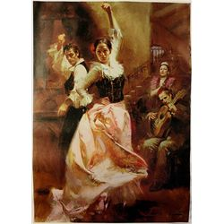 Pino  on Canvas - Dancing in Barcelona- Limited Edition