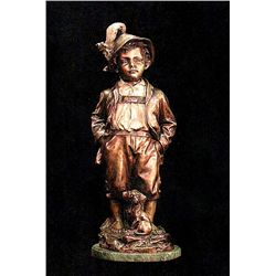 Bronze Sculpture - Alpine Boy by Haubner