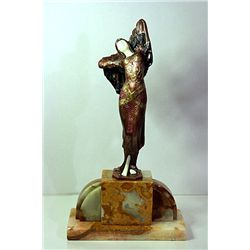 Signed Chiparus Bronze and Ivory - Odalisque