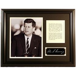 John F.  Kennedy  Giclee with engraved signature