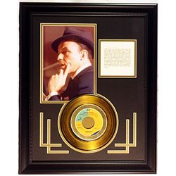 Frank Sinatra Giclee with Gold Record