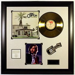 Eric Clapton Giclee and Gold LP