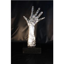 Real Silver Pablo Picasso Limited Edition Sculpture - Helping Hand