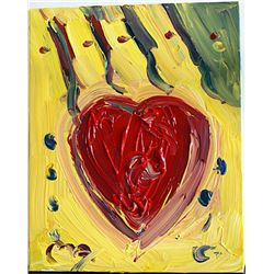 Peter Max Original Acrylic On Canvas -My Heart-