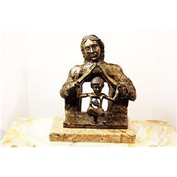 Salvador Dali Magnificent Original, limited Edition Bronze - The First Study For The Madonna