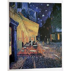 Café Terrace at Night(Place du Forum in Arles) by Van Gogh