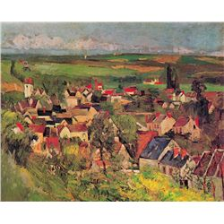 View of Auvers from above- Paul Cezane - Limited Edition On Canvas