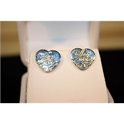 Lady's Fancy Tiffany Sterling Silver Heart Earrings