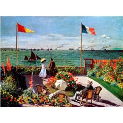 Terrace Seaside - Monet - Limited Edition on Canvas