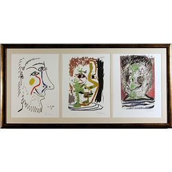 3 Pieces Color Lithograph by Picasso