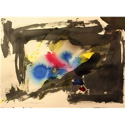Original Robert Motherwell, Ink Drawing on paper -
