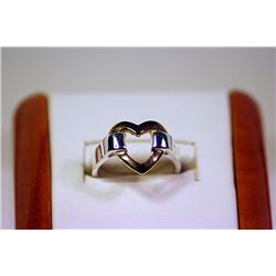 Lady's Beautiful HEART Shaped Tiffany Sterling Silver Ring