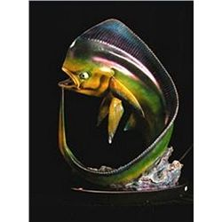 Bronze Sculpture - Mahi Bull Dolphin by Piquera