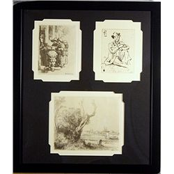 Etching Set by A. Durand Rembrandt