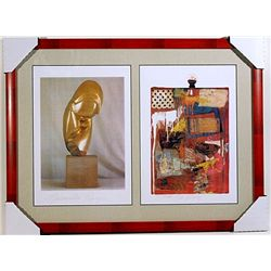 Constantin Brancusi and Robert Rauschenberg-Lithographs Set