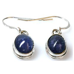 Natural Tanzanite Cabushion .925 Sterling 3.90g Earring