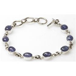 Natural 60.6 ctw Tanzanite .925 Sterling Bracelet
