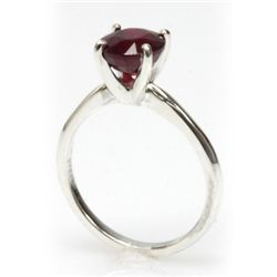 Natural 1.75ctw Ruby .925 Sterling Silver Ring