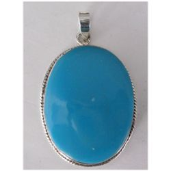 Natural 63.55 ctw Froza Oval Pendant .925 Sterling