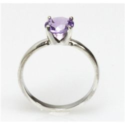 Natural 0.75ctw Amethtyst .925 Sterling Silver Ring
