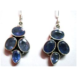 Natural 8.11g Tanzanite .925 Sterling Silver Earrings