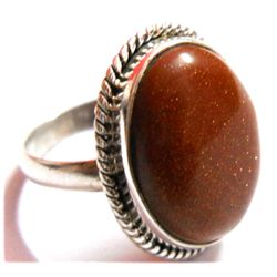 Natural 27 ctw RED ONEXE .925 Sterling ring