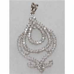 Natural 4.29g CZ Pendant .925 Sterling Silver