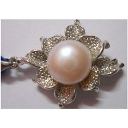 Natural 23.95 ctw Pearl Round Pendant .925 Sterling