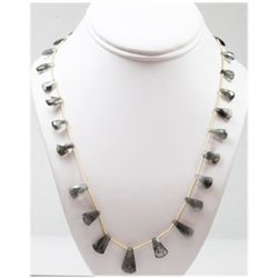 75.10 ctw Natural Smoke Quartz Bead Necklace