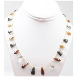 69.84 ctw Natural Smoke Chocolate Tourmaline Necklace