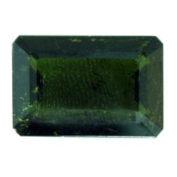 Natural 11.44ctw Green Tourmaline Emerald Cut Stone