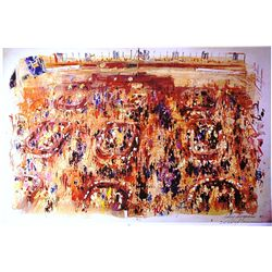 Leroy Neiman Double Signed Lithograph - Wall Street-