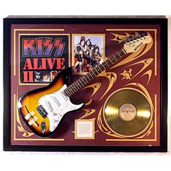 KISS  double Giclee with Gold LP and Real Guitar