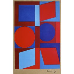 VICTOR VASARELY, Signed Print, 1969