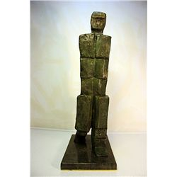 Fritz Wotruba  Original, limited Edition  Bronze - Walking Man